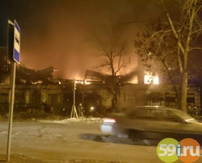 ВПерми сгорело строение спортивного центра «Кама»