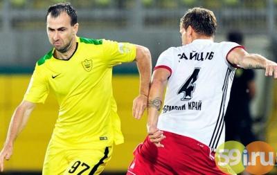 Мяч Брызгалова принёс «Анжи» победу над «Амкаром» вматче РФПЛ