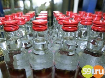 Трое граждан Осетии продали вПерми 100 тыс. бутылок контрафактной водки