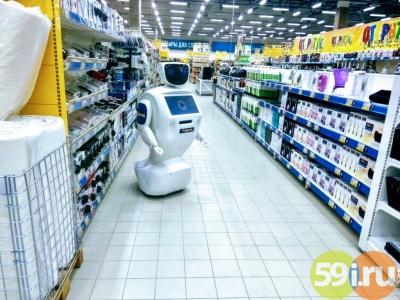 Русская сеть супермаркетов сделала внедрила роботов всупермаркете