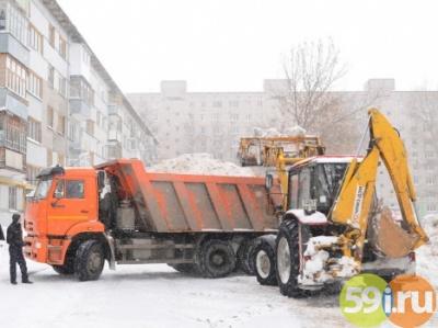 Ссамого начала января изПерми вывезено практически 23 тысячи кубометров снега